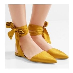 Sam Edelman Brandie Lace Up Flats Yellow Size 9